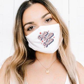 Delta Delta Delta Flashback Face Mask