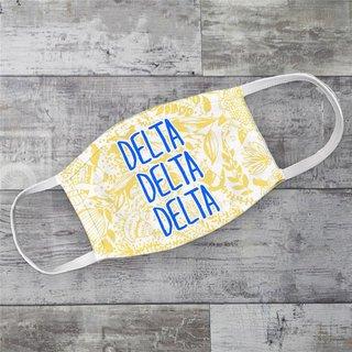 Delta Delta Delta Floral Face Mask