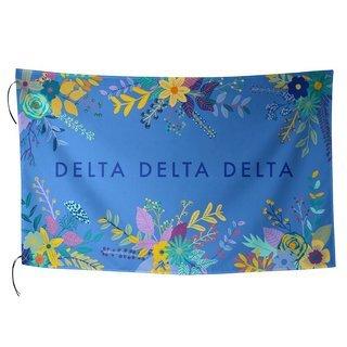 Delta Delta Delta Floral Flag