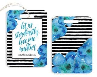 Delta Delta Delta Floral Motto Luggage Tag