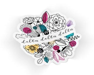 Delta Delta Delta Flower Sticker