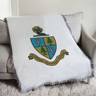 Delta Delta Delta Full Color Crest Afghan Blanket Throw