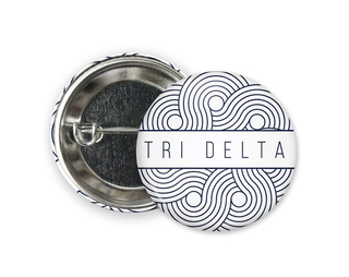 Delta Delta Delta Geo Scroll Button Pin