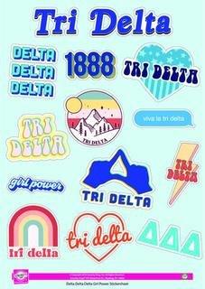Delta Delta Delta Girl Power Stickers