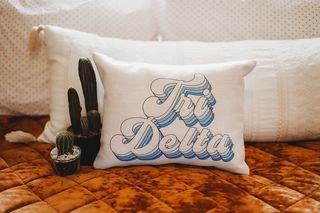 Delta Delta Delta Retro Throw Pillow