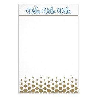 Delta Delta Delta Gold Notepads