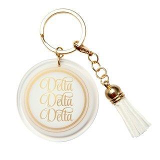 Delta Delta Delta Tassel Key Chain