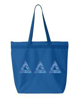 Delta Delta Delta Greek Letter Liberty Bag