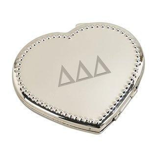 Delta Delta Delta Heart Shaped Classic Compact