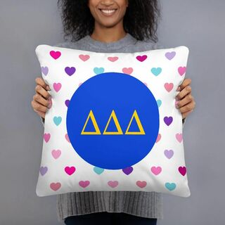 Delta Delta Delta Hearts Pillow