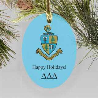 Delta Delta Delta Holiday Color Crest - Shield Ornament