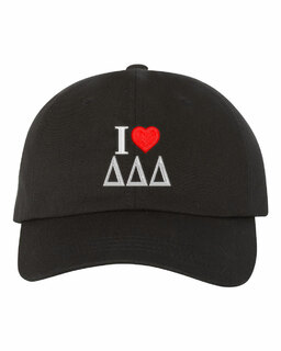 Delta Delta Delta I Love Hat