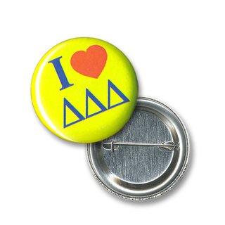 Delta Delta Delta I Love Mini Sorority Buttons