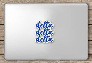 Delta Delta Delta Script Sticker