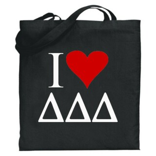 Delta Delta Delta I Love Tote Bags