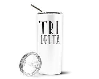 Delta Delta Delta Inline Stainless Tumbler