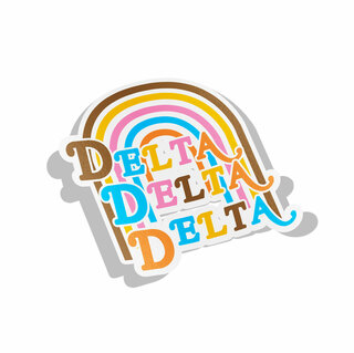 Delta Delta Delta Joy Decal Sticker