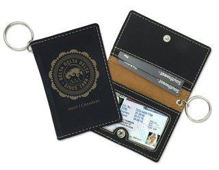 Delta Delta Delta Leatherette ID Key Holders