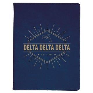 Delta Delta Delta Leatherette Mascot Portfolio with Notepad