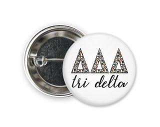 Delta Delta Delta Leopard Button
