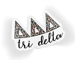 Delta Delta Delta Leopard Sticker