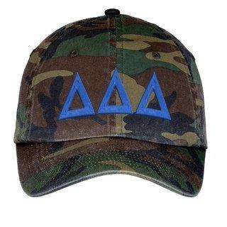 Delta Delta Delta Lettered Camouflage Hat