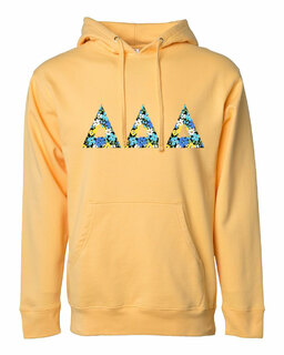 Delta Delta Delta Lettered Independent Trading Co. Hooded Pullover Sweatshirt