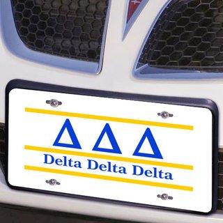 Delta Delta Delta Lettered Lines License Cover