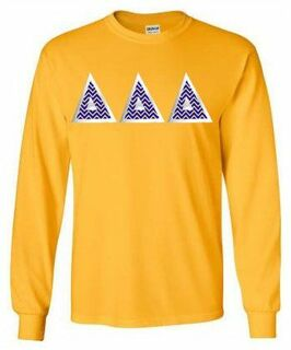 Delta Delta Delta Lettered Long Sleeve Shirt