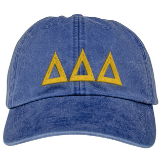 Delta Delta Delta Lettered Premium Pastel Hat