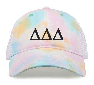 Delta Delta Delta Lettered Rainbow Cap