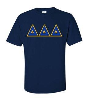 Delta Delta Delta Sewn Lettered Shirts