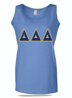 DISCOUNT-Delta Delta Delta Lettered Ladies Tank Top