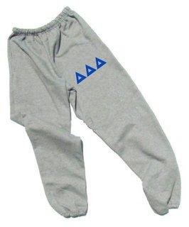 Delta Delta Delta Lettered Thigh Sweatpants
