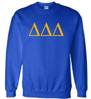 Delta Delta Delta Lettered World Famous Greek Crewneck