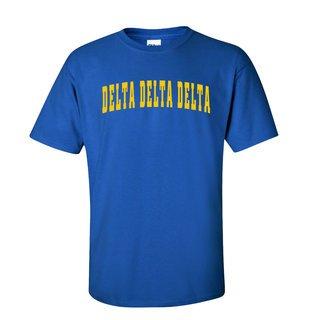 Delta Delta Delta Letterman T-Shirts