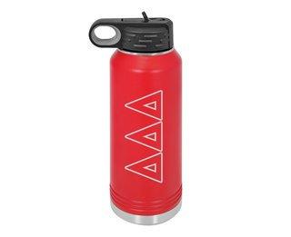 Delta Delta Delta Letters Stainless Water Bottle
