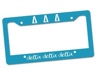 Delta Delta Delta License Plate Frame
