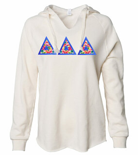 Delta Delta Delta Lightweight California Wavewash Hooded Pullover Sweatshirt