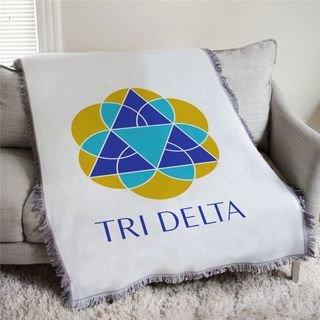 Delta Delta Delta Logo Afghan Blanket Throw
