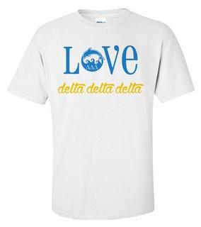 Delta Delta Delta Love Mascot T-Shirt