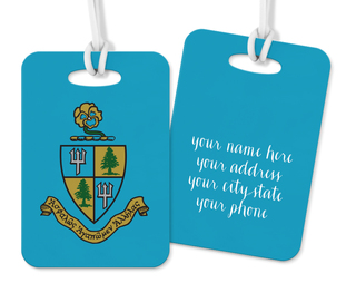 Delta Delta Delta Crest - Shield Luggage Tag