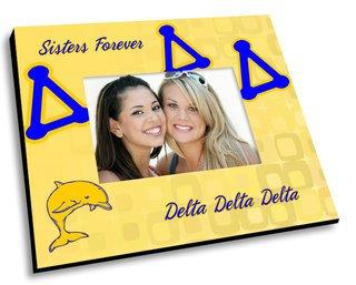 Delta Delta Delta Mascot Color Picture Frame
