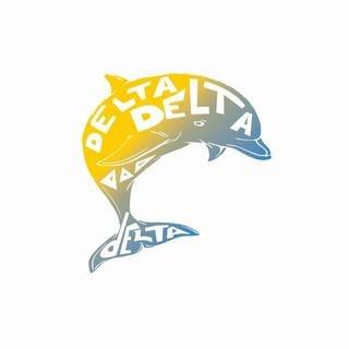 Delta Delta Delta Mascot Greek Letter Sticker