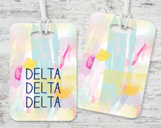 Delta Delta Delta Watercolor Luggage Tag