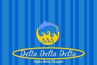 Delta Delta Delta Mascot Tablecloth