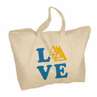 Delta Delta Delta Mascot Zippered Tote Bag
