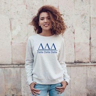 Delta Delta Delta Message Sweatshirt