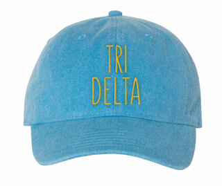 Delta Delta Delta Mod Comfort Colors Pigment Dyed Baseball Cap