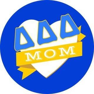 Delta Delta Delta Mom Round Decals